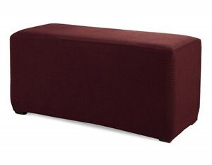 GOLD Slipcover Spandex Pique Stretch Fit Rectangle Ottoman Furniture Cover
