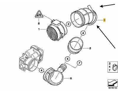 GENUINE BMW AIR INTAKE HOSE DUCT PIPE BOOT E46 330i Z3 3.0 1438761 MAF-Throtle
