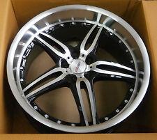 MOTEC ALUFELGE black polished/steel 9.5x18 zoll / ET25 5x100 / 57.1