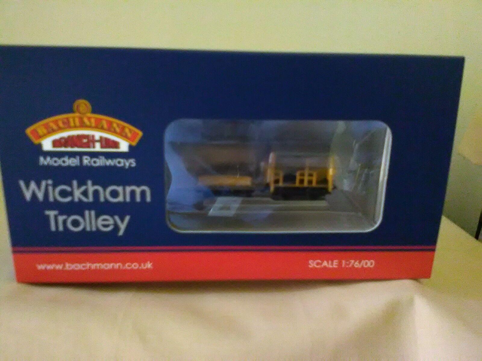 Bachmann ref 32-992 Wickham Trolley ingenieros amarillo Nuevo en Caja