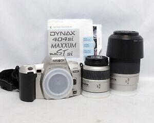 Minolta Dynax 404si 35-80mm 70-300mm 1:4.5-5.6 Zoom Lens 35mm SLR Film Camera