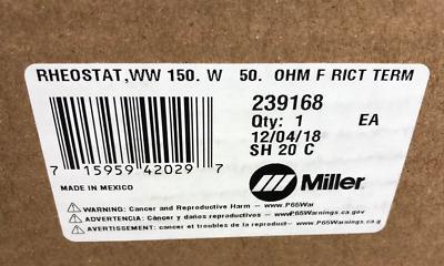 MILLER 241165 RHEOSTAT,WW 150 OHM FRICT TERM W 50