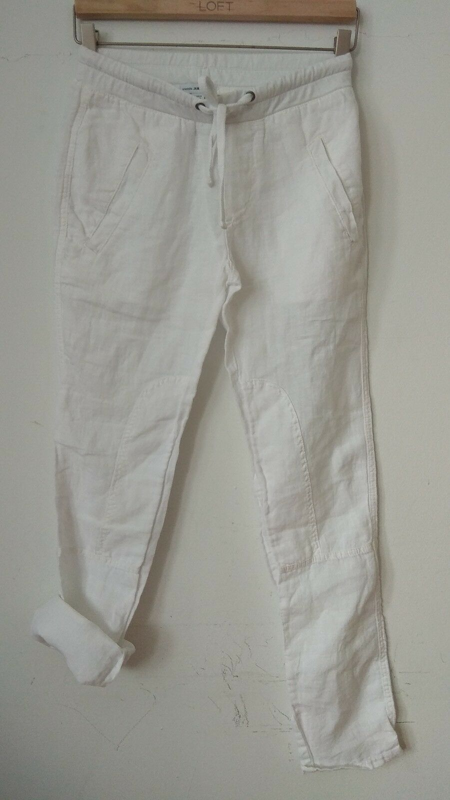 NWOT James Perse Linen Drawstring Pants, Sizes 0