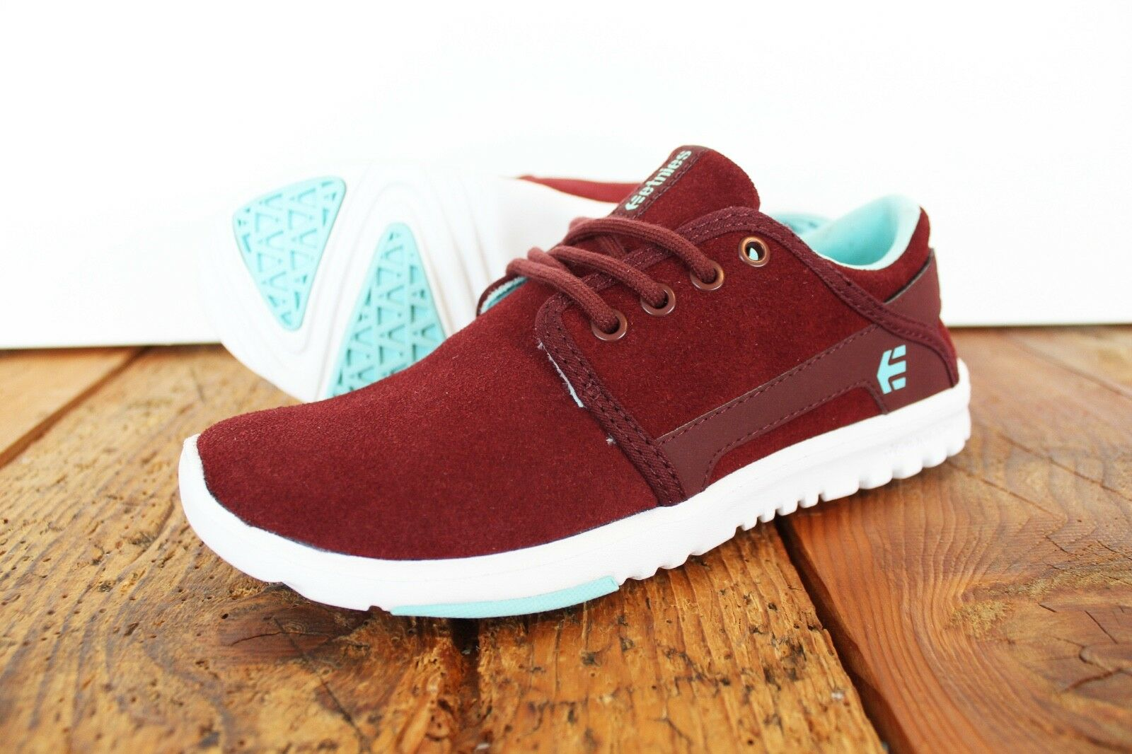 ETNIES SCOUT WOMAN 5 SHOES NEU BURGUNDY GR:US 5 WOMAN W ETNIES 1f2be3