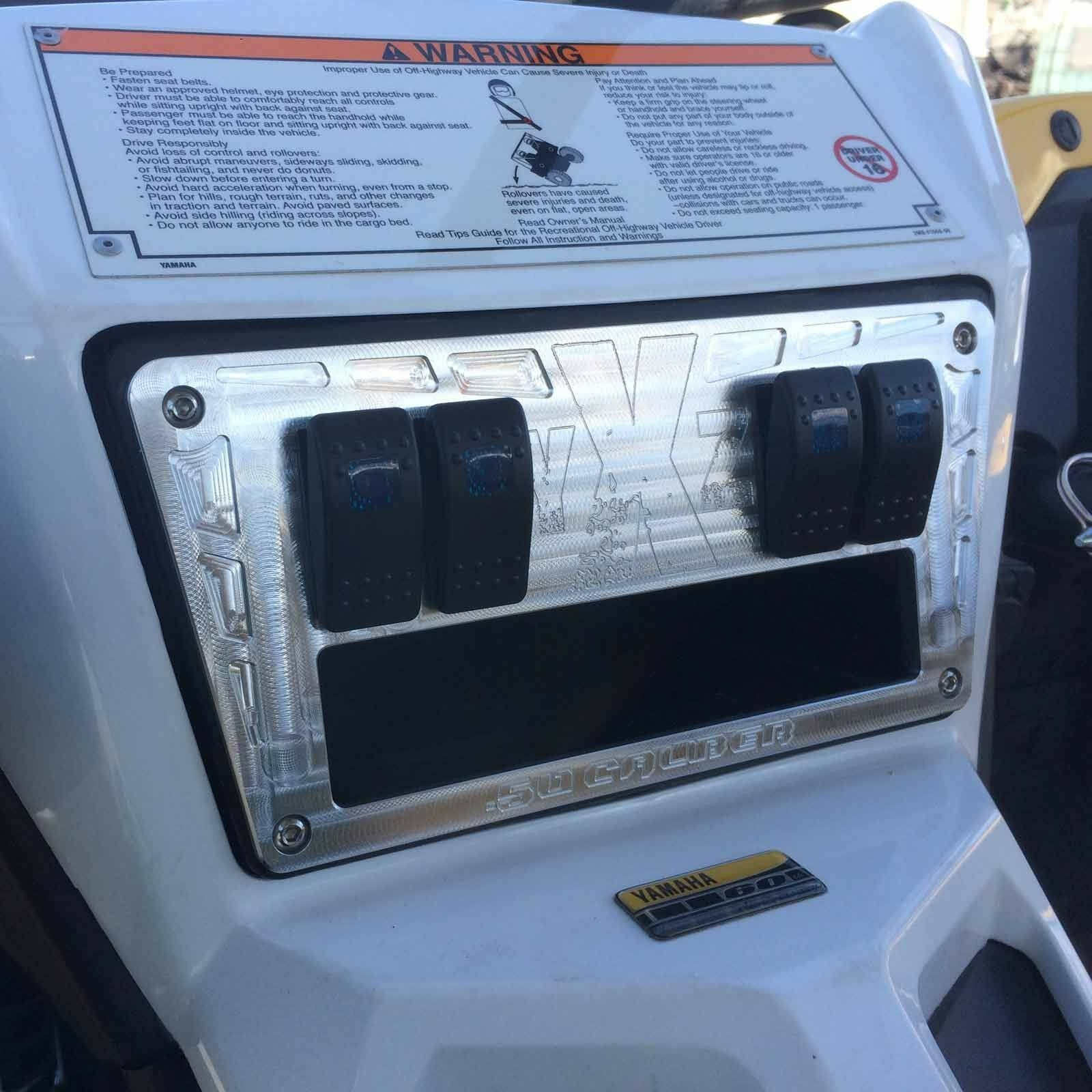 Raw Billet Dash Panel With Switches Accessories UTV Performance Parts YXZ 1000R