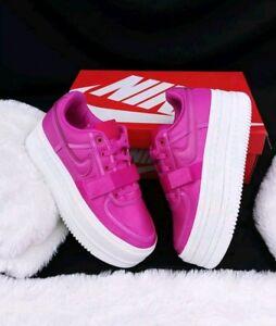 9 WOMEN S Nike Vandal 2K Double Stack PLATFORM Magenta pink White ... 69114a677