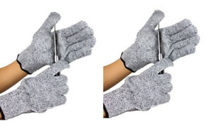 Wood Carving or Cooking 2 Pairs Cut Resistant Protective Gloves for Whittling