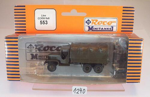Roco Minitanks 1//87 Nr 553 GMC CCKW 6x6 Planen Lkw US Army Militär OVP #1240