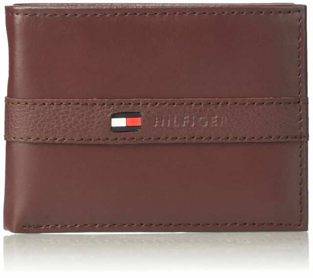 Tommy Hilfiger Johnson Mini Credit Card Leather Wallet Brown