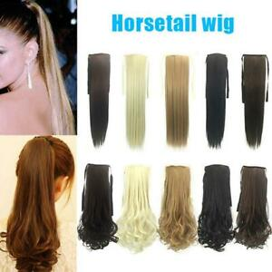 Wrap-Around-Clip-In-On-Ponytail-Extension-Hair-Piece-Pony-Tail-Straight-Curly