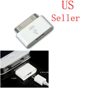 micro usb female to dock 30 pin male charger adapter for. Black Bedroom Furniture Sets. Home Design Ideas