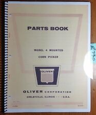 Oliver 4 Mounted Corn Picker Parts Book Catalog Manual S4 9 M10 1963