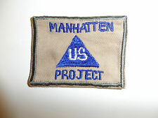 b2562v WW 2 US Civilian Manhattan Project shoulder patch R9C misspelling