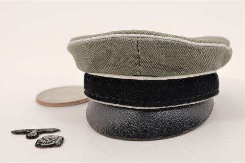 DID Deuxième Guerre Mondiale Allemand Kurt Meyer officiers Visière Cap 1//6 Toys 3R alerte Dragon BBI Hat