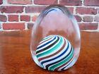 Vintage Mid Century Modern Murano Italian Art Glass Signed Cenedese Paperweight