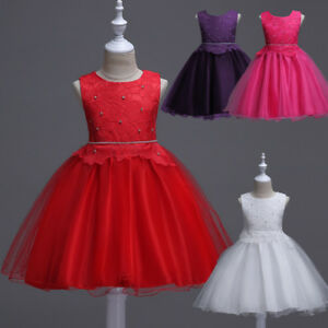 509a7fe2d2be New Flower Girl Formal Princess Dress Tulle Tutu Kids Party Wedding ...