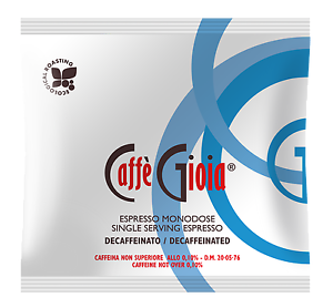 Caffè Gioia ESE Coffee Pods Decaffeinated (150 Pods/Cialde)