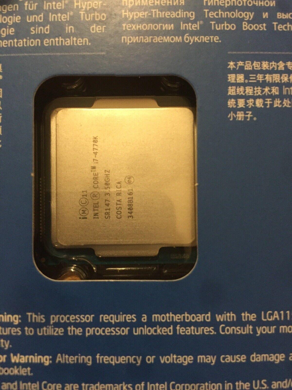 Intel Core i-7-4770K BXF80646I74770K Quad-Core Processor