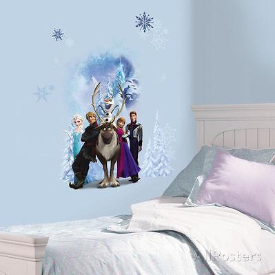 DISNEY FROZEN BURST Wall Decals Princess Anna Elsa Olaf Sven Room Decor Stickers
