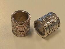Tibetan Style Column Bead, Antique Silver, Large Hole Bead 14x13mm, Hole 10mm
