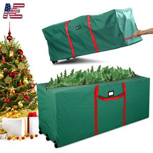 Artificial Christmas Tree Box.Details About Artificial 4 9 Ft Xmas Christmas Tree Storage Bag Box Bin Rolling Duffel Bags