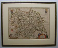 Yorkshire: antique map by Johan Blaeu, 1663
