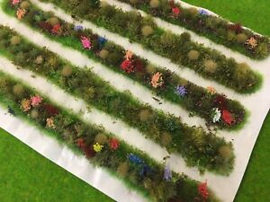 AgréAble Trackside Dioramas-model Scenery Railway Flowers Static Grass Tufts Stips Hedge-afficher Le Titre D'origine Une Performance SupéRieure