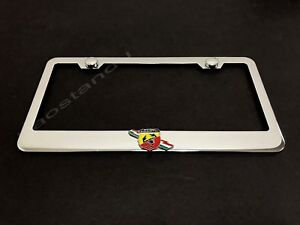 Fiat 500 Stainless Steel License Plate Frame Rust Free W// Bolt Cap