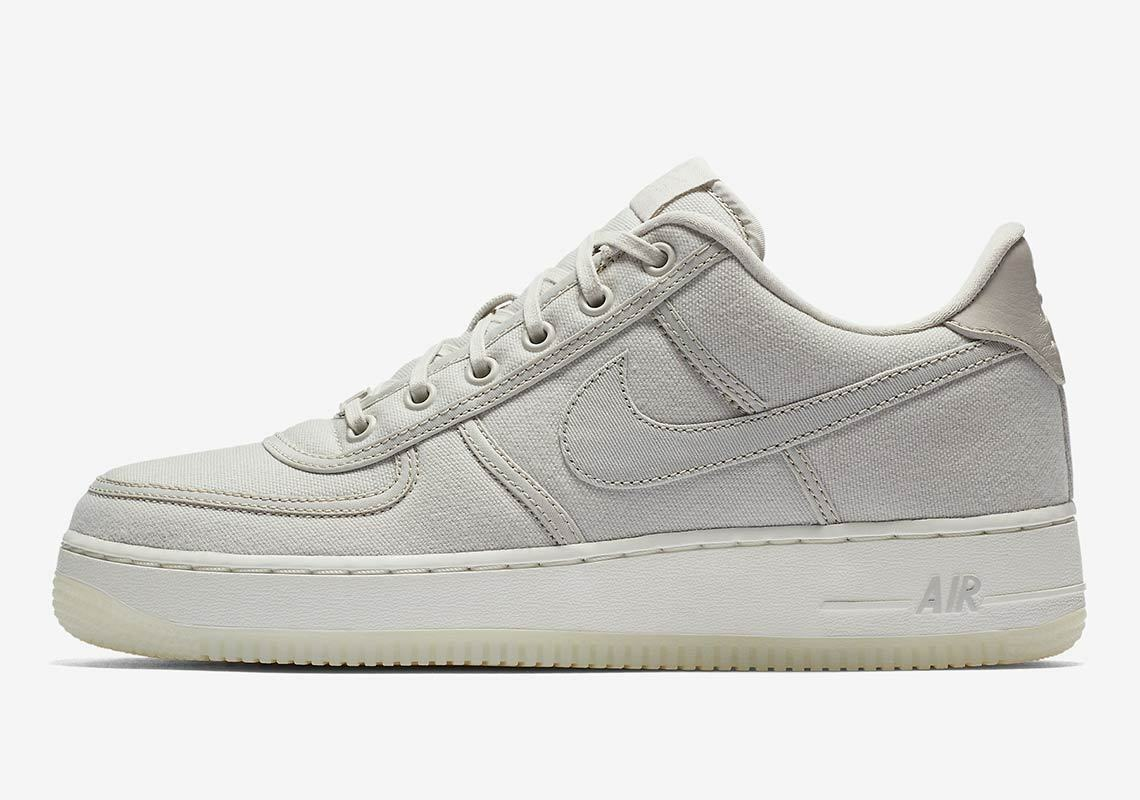 Nike Air Force 1 Low Retro Canvas QS SZ 13 Light Bone Off-White AF1 AH1067-003