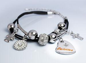 Amulettarmband Christina 18k Weißgold Beschichtet   Muttertag Geschenke Für Sie