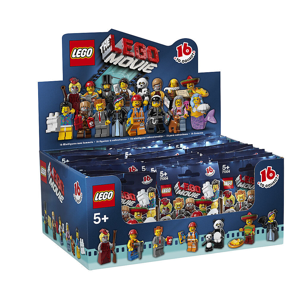 (EUR (EUR (EUR 4 99 Stück) DISPLAY mit 60 Stück LEGO® MINIFIGUREN 71004  The LEGO MOVIE  f6a82e