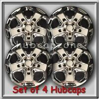 Chrome 17 Ford Fusion Replacement Hubcaps, 2009-2012 Wheel Covers Set 4
