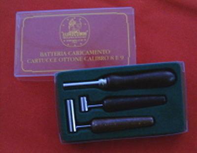 BATTERIA MISURINI PER CARICAMENTO CARTUCCE OTTONE CAL 8//9