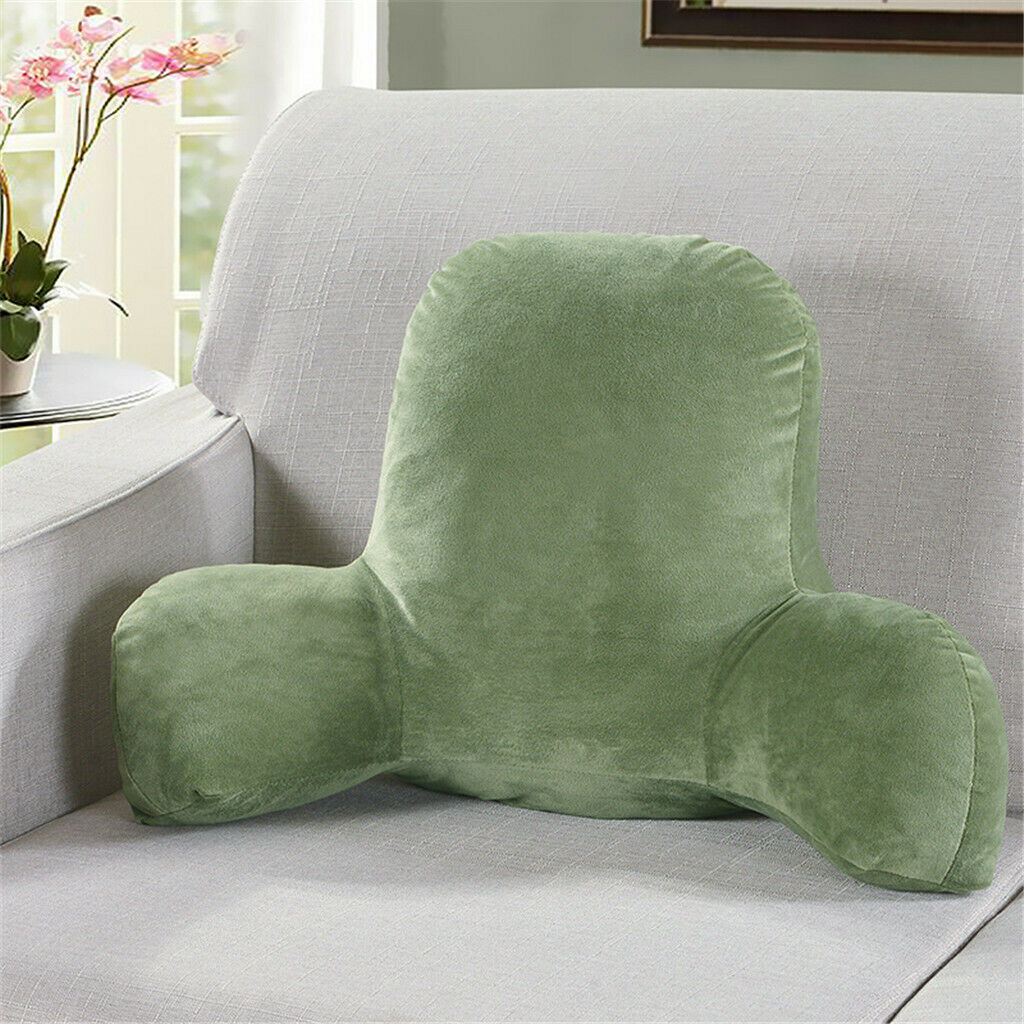 Plush Big Backrest Reading Rest Pillow Lumbar Support Chair Cushion with Arms