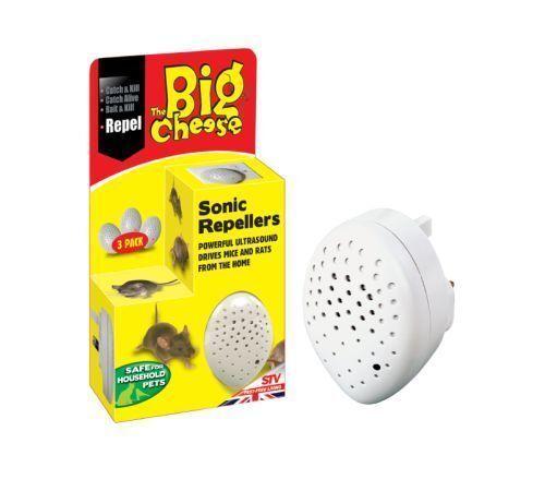 Big Cheese Plug-in de Sonic Mouse y repelente de Rata Paquete De 3-STV728