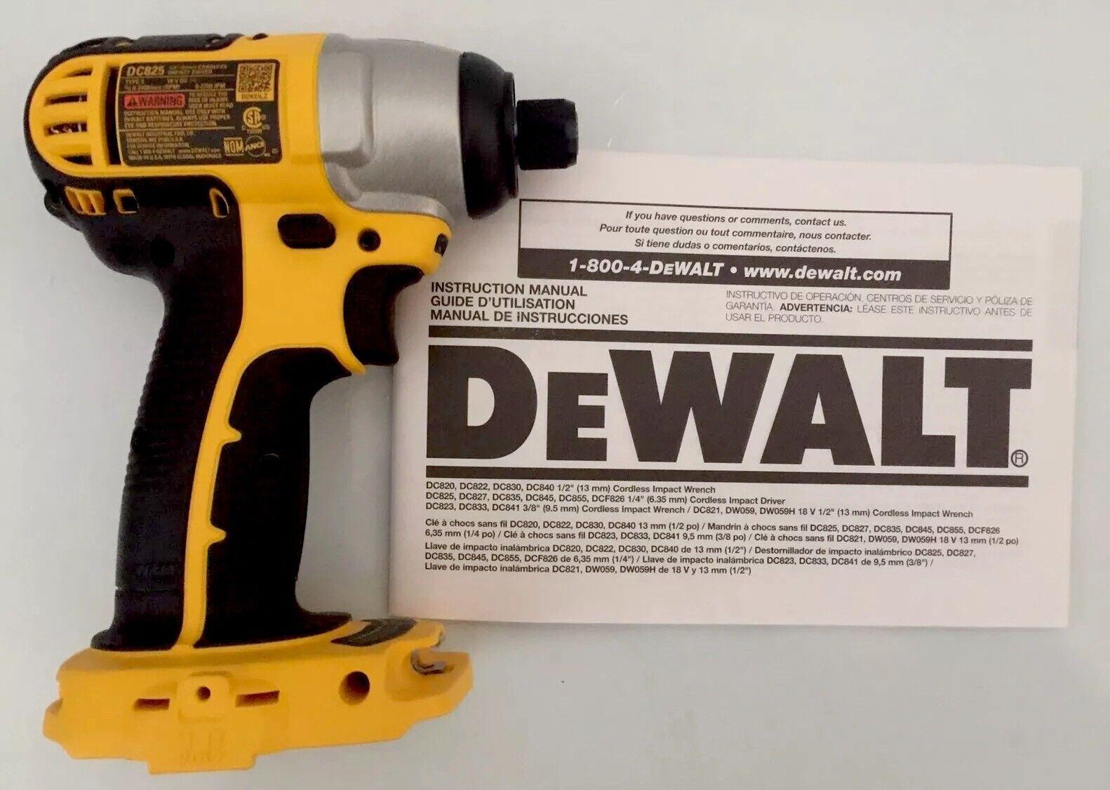 DEWALT DC825 18V IMPACT WINDOWS 8 DRIVERS DOWNLOAD