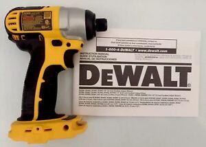 new dewalt dc825 dc825b 1 4 18 volt 18v hex cordless impact driver rh ebay com