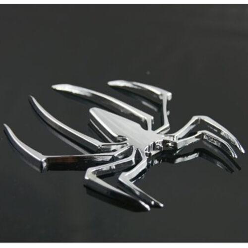Set 2pc 3D Spider Chrome Emblems Badges Sticker Silvery Can am Spyder RT ST RS