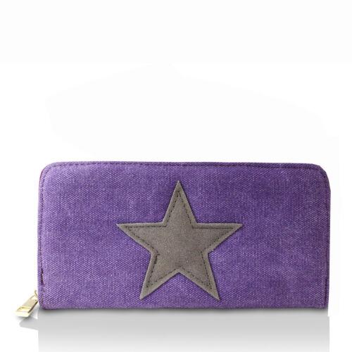 Portemonnaie Brieftasche STERN Geldbeutel Frau GOGO Geldbörse mit Stern Muster