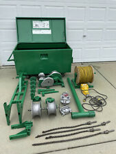 Greenlee 4000 Lbs Wire Cable Tugger Puller Set Sheave Bushing Adapters