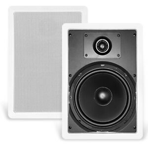 """NEW CT SOUNDS BIO 8"""" 2-WAY WEATHERPROOF IN-WALL SPEAKERS - HOME THEATHER, PATIO"""