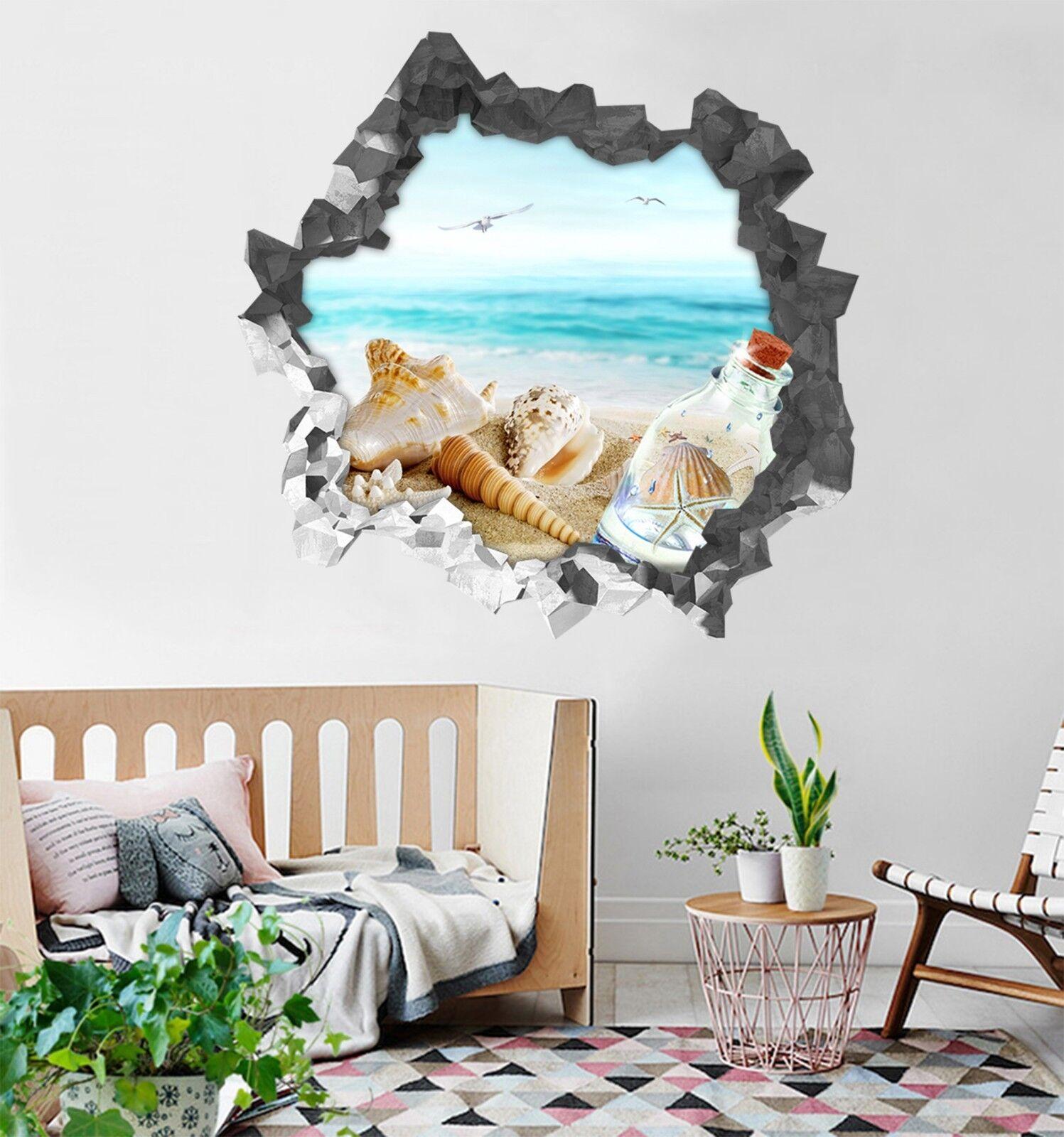 3D Strandschätze 22 Mauer Murals Mauer Aufklebe Decal Durchbruch AJ WALLPAPER DE