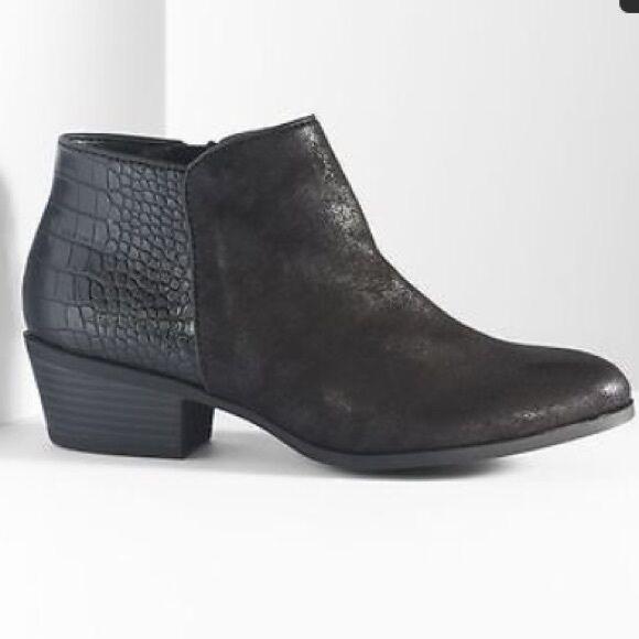Simply Vera Wang Black Danna Ankle