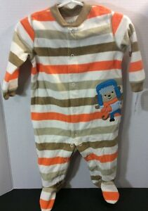 dd72af74ba0b NWT Child Of Mine Carter s Infant Boys Monkey Fleece Sleeper Size 6 ...
