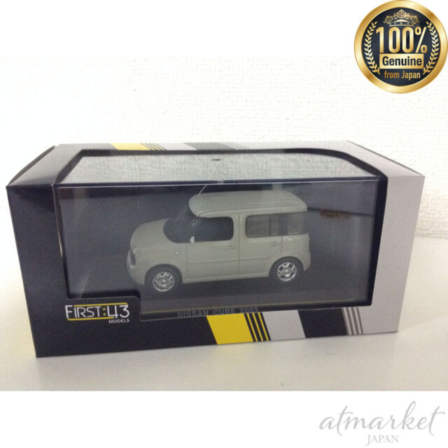 FIRST:43 Mini Car F43-087 1/43 Nissan Cube 2003 Ivory White Finished Item JAPAN