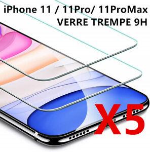vitre-verre-trempe-film-de-protection-iPhone-11-11-Pro-Max-XS-XR-X-8-7-6-LOT-5