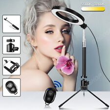 "NEW 6"" Dimmable LED Ring Video Light Makeup Photography Lighting Kit + Tripod UK"