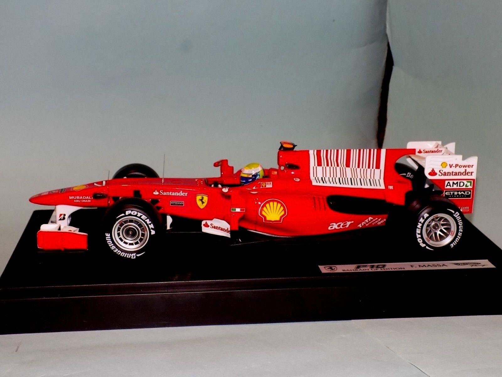 Ferrari F10 Bahrein GP Edition 2010  7 Felipe Massa Rojo Elite T6288 1 18