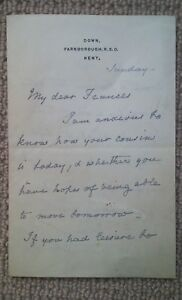 1889-EMMA-DARWIN-Wife-Charles-Darwin-Autograph-Letter-to-Woman-Feminist