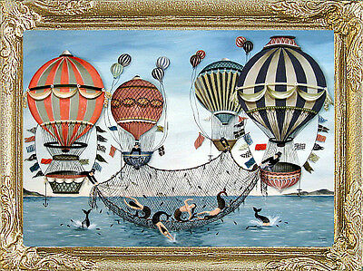 MERMAIDS /& BALLOONS Dollhouse Miniature Picture MADE IN AMERICA FAST DELIVERY